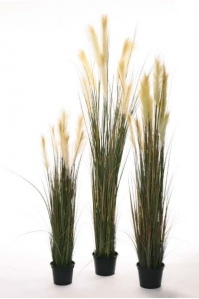 Трава Пампасская искусственная в кашпо