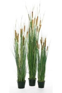 Трава с Камышом искусственная в кашпо (Высота:120 см)