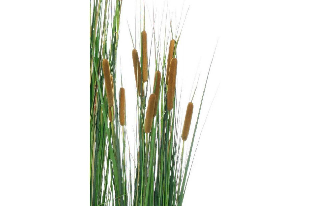 Трава с Камышом искусственная в кашпо 120 см - Фото 2