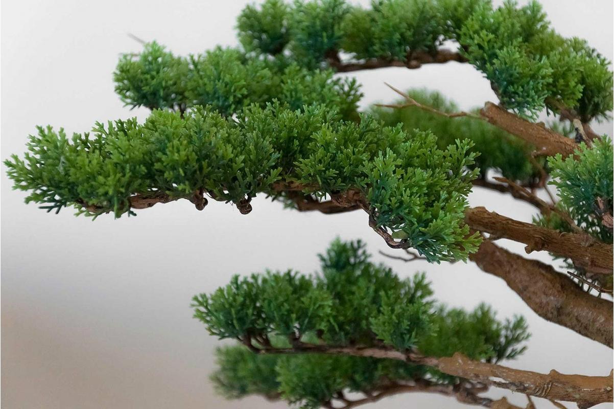 Бонсай искусственный Сосна в кашпо 70 см - Фото 3