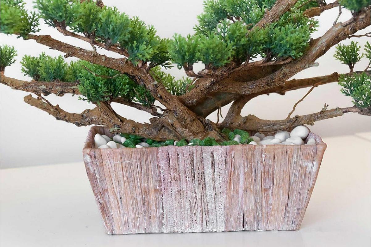 Бонсай искусственный Сосна в кашпо 70 см - Фото 2