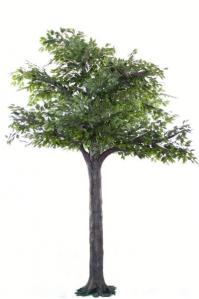 Фикус Гигант искусственный зеленый 350 см