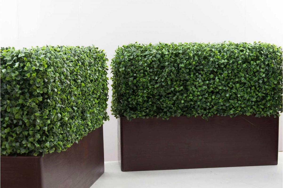 Изгородь из самшита искусственная (без кашпо) 115 x 25 x 50 см - Фото 3