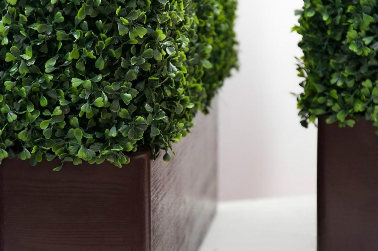 Изгородь из самшита искусственная (без кашпо) 115 x 25 x 50 см - Фото 5