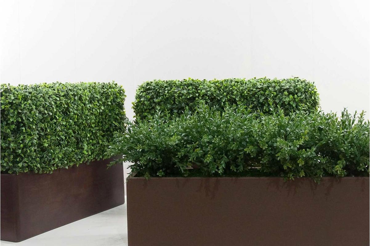 Изгородь из самшита искусственная (без кашпо) 115 x 25 x 50 см - Фото 6
