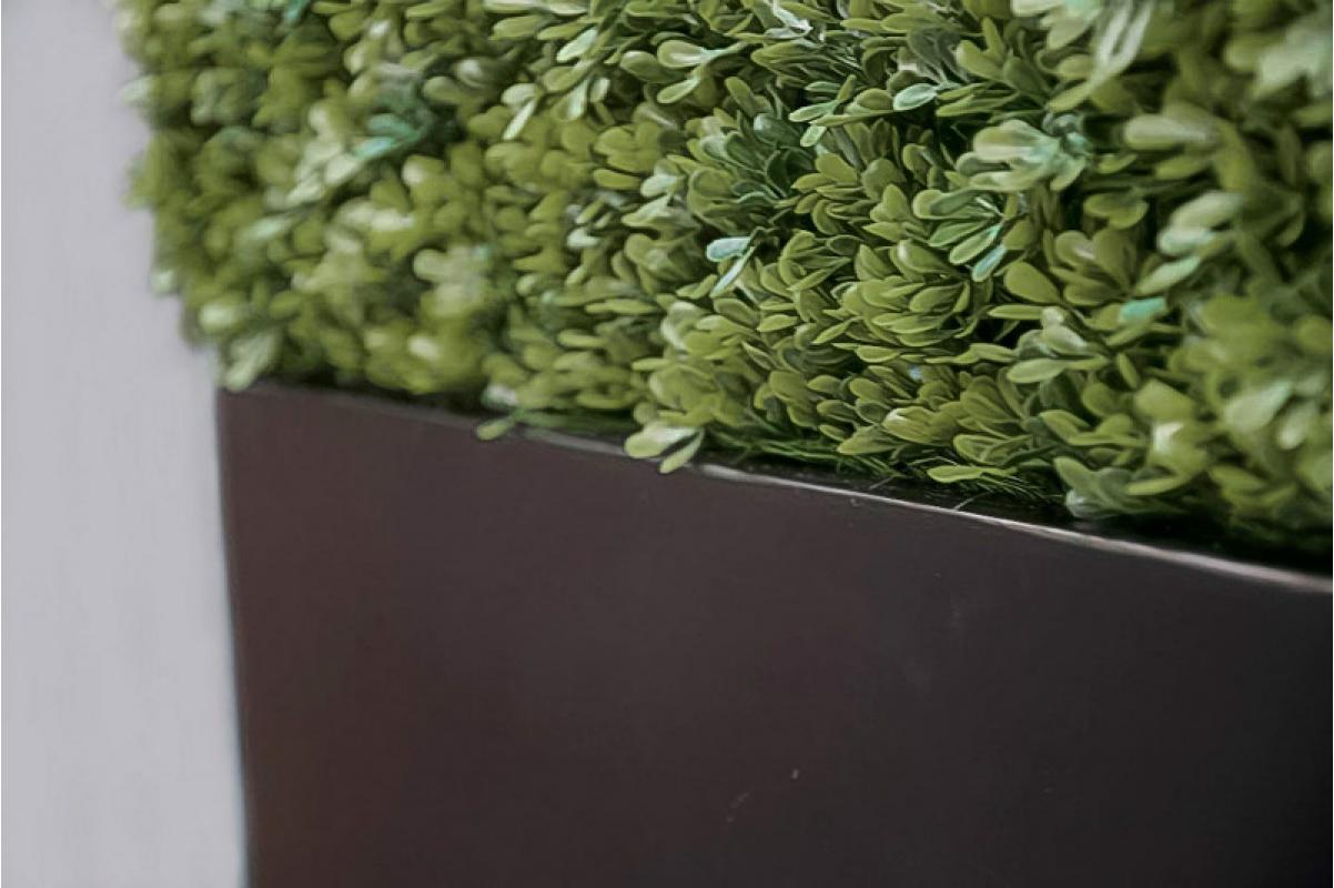 Изгородь из самшита искусственная в кашпо 115 х 30 х 70 см - Фото 3