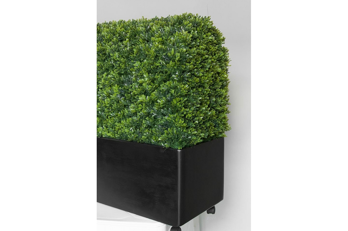 Изгородь из самшита искусственная в кашпо 115 х 30 х 70 см - Фото 4