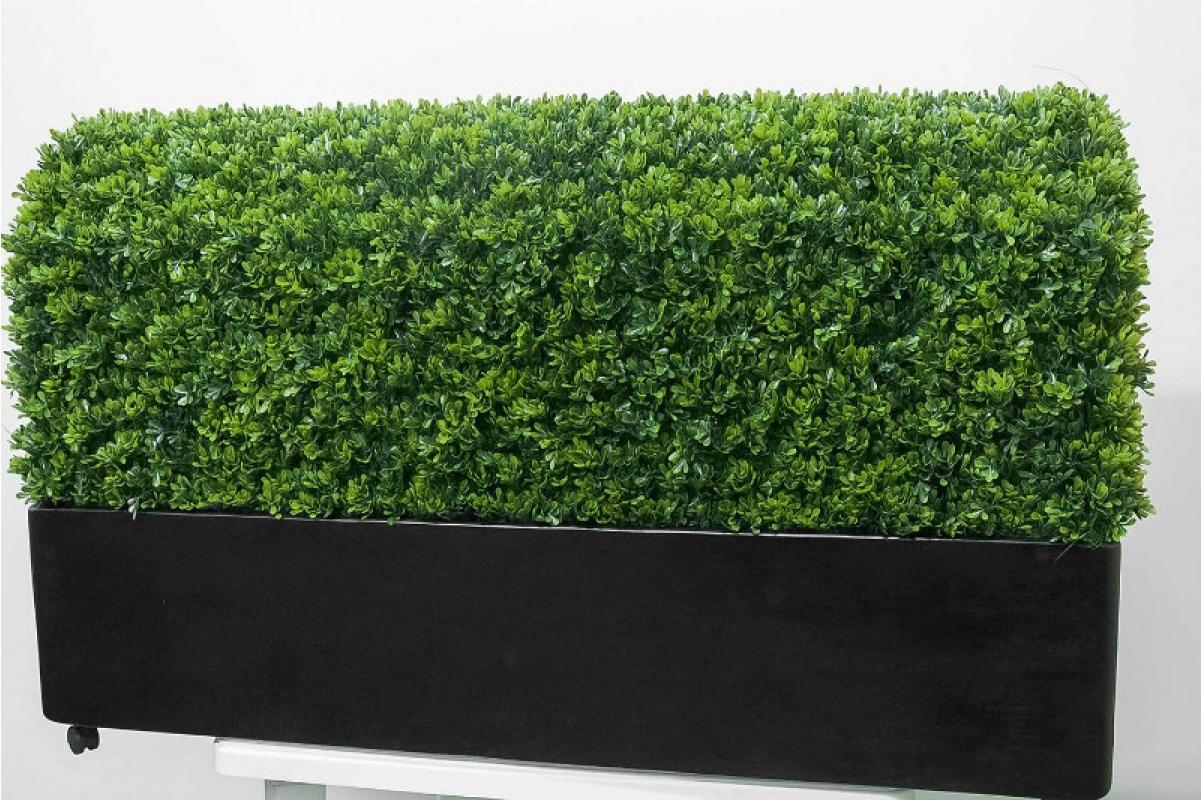 Изгородь из самшита искусственная в кашпо 115 х 30 х 70 см - Фото 5