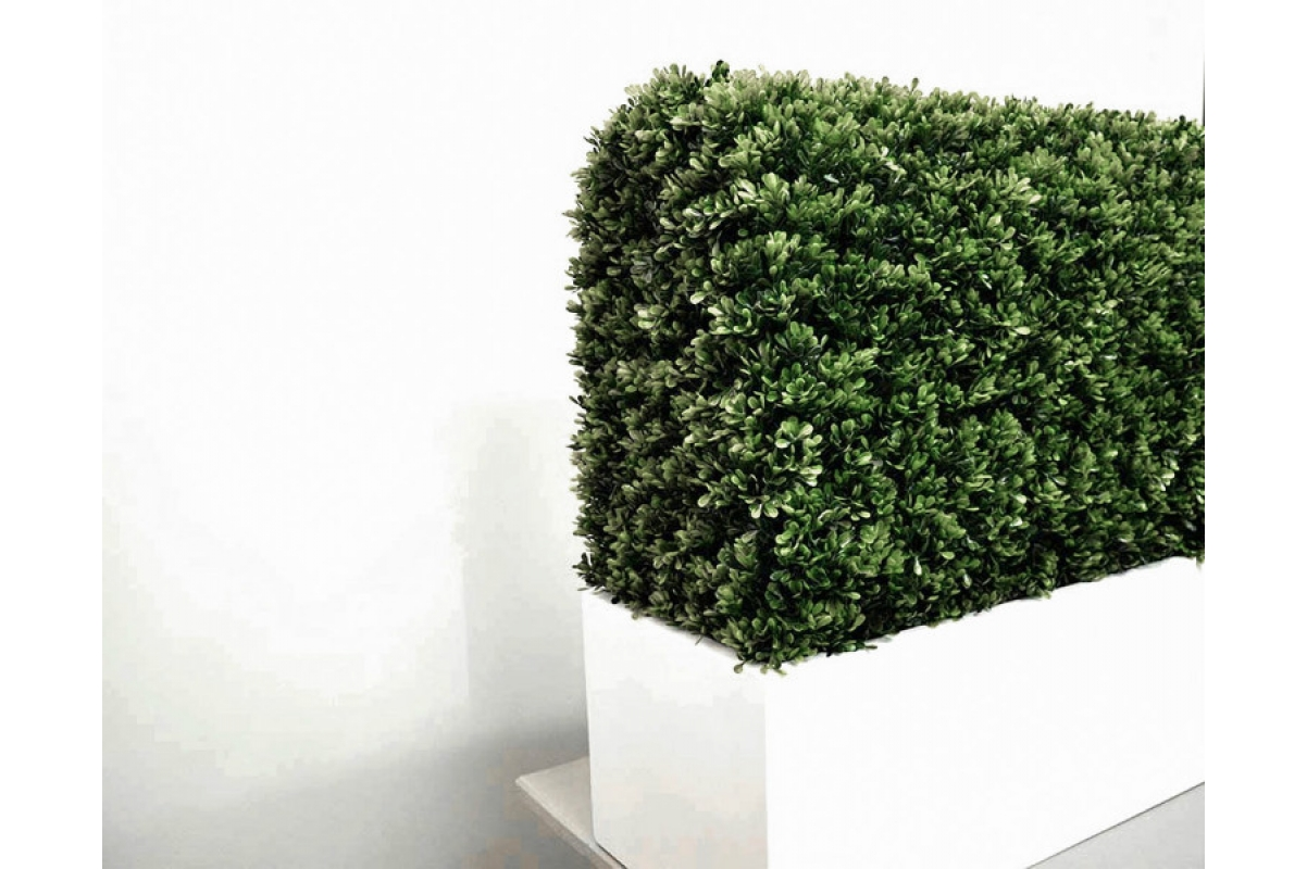 Изгородь из самшита искусственная в кашпо 115 х 30 х 70 см - Фото 7