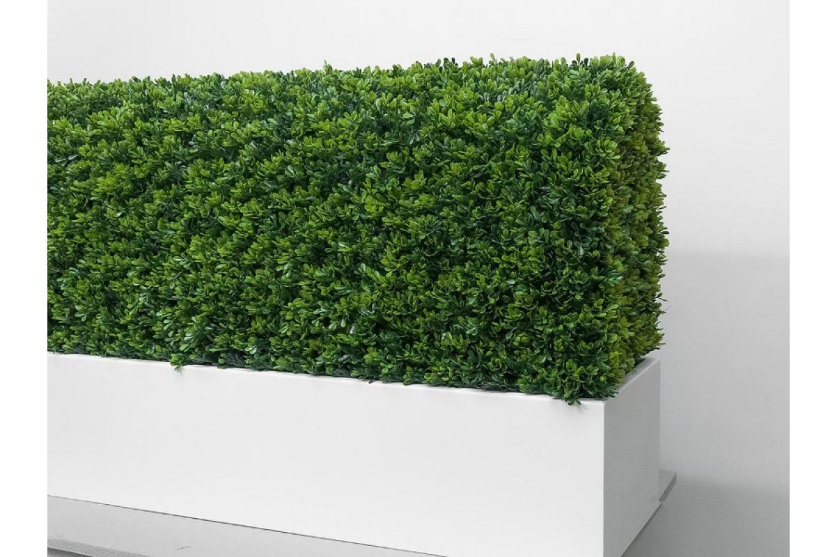 Изгородь из самшита искусственная в кашпо 115 х 30 х 70 см - Фото 6