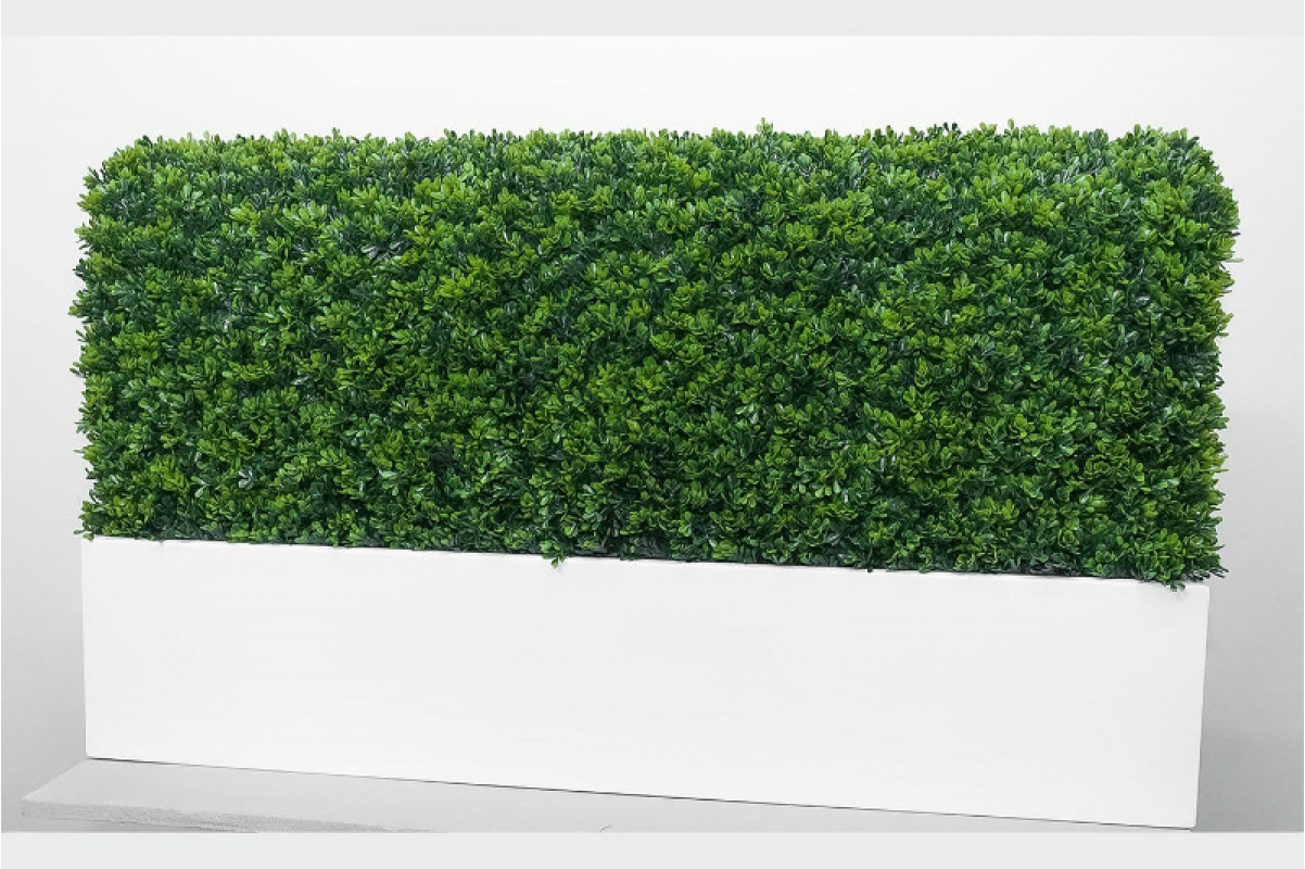 Изгородь из самшита искусственная в кашпо 115 х 30 х 70 см - Фото 8