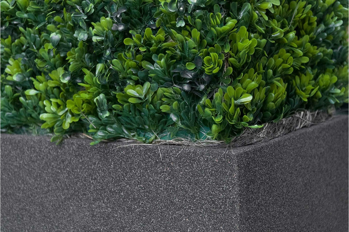 Изгородь из самшита искусственная в кашпо 115 х 30 х 70 см - Фото 2