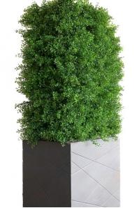 Изгородь из самшита искусственная в кашпо 70 х 40 х 150 см