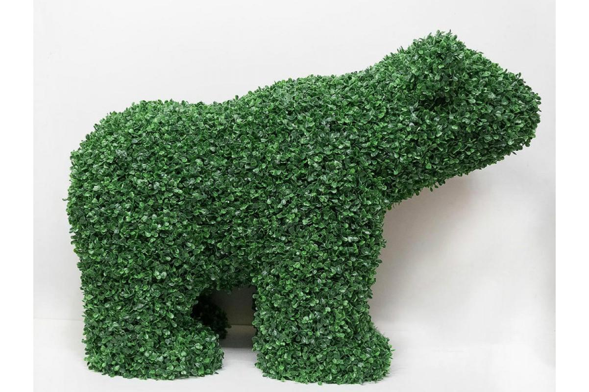 Топиари Медведь из самшита искусственного 72 х 98 см