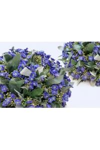 Полусфера декоративная с фиолетовыми цветами искусственная 33 см