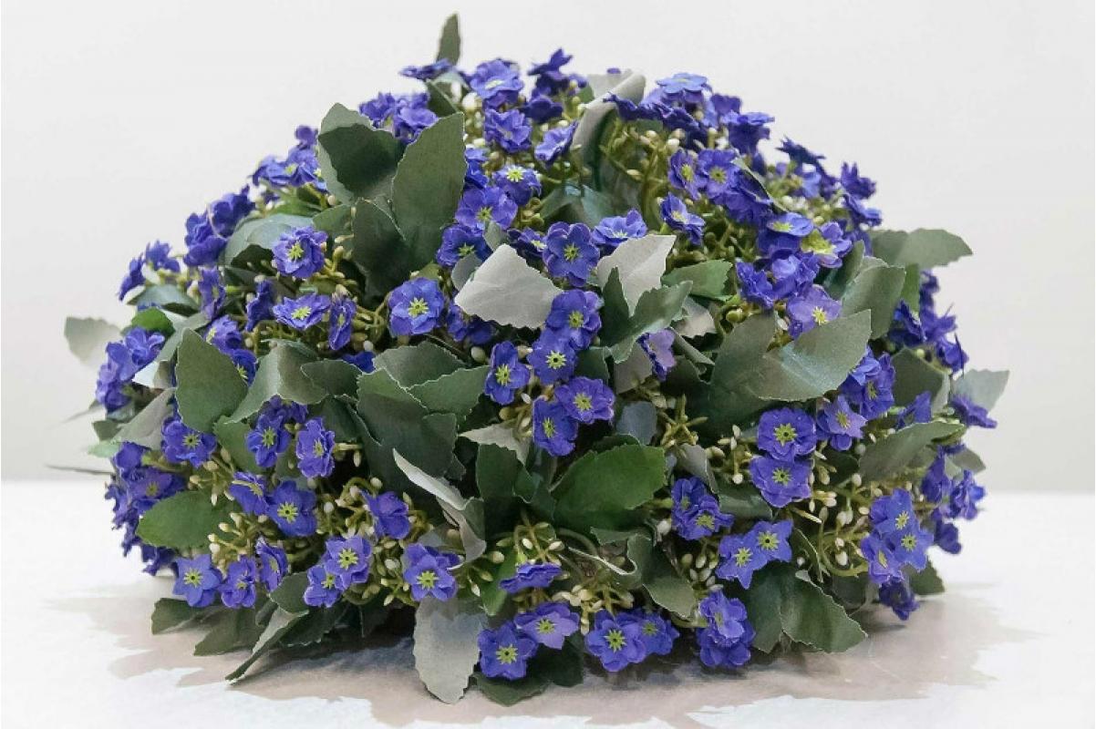 Полусфера декоративная с фиолетовыми цветами искусственная 33 см - Фото 4
