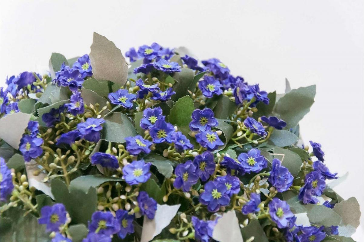 Полусфера декоративная с фиолетовыми цветами искусственная 33 см - Фото 2