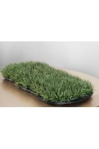 Клумба декоративная из травы искусственная  (Размер (Д x Ш x В), см:75 x 35 x 12)