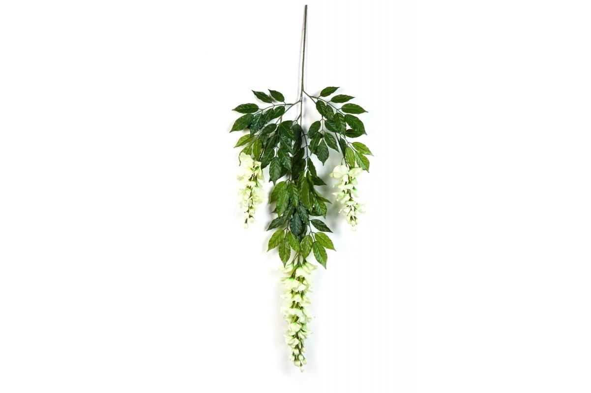 Ветка Вистерии цветущей искусственная 65 см - Фото 2