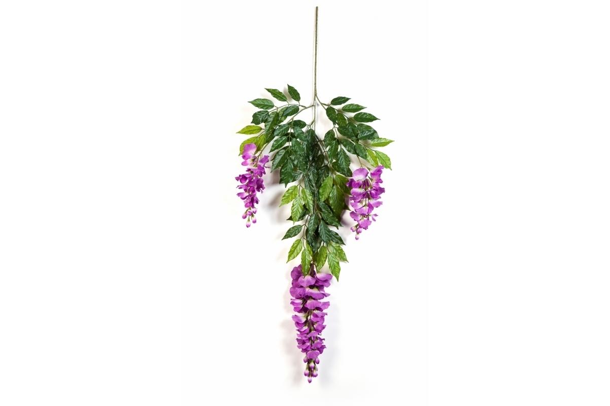 Ветка Вистерии цветущей искусственная 65 см