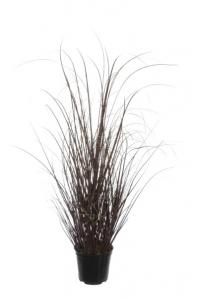 Трава искусственная в горшке зелено-серая 60 см