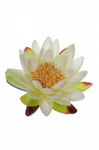 Цветок Лотоса искусственный кремовый 14 см