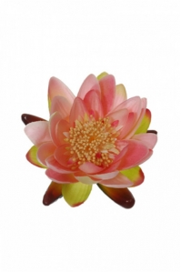 Цветок Лотоса искусственный розовый 14 см