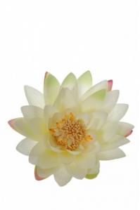 Цветок Лотоса искусственный кремовый 16 см