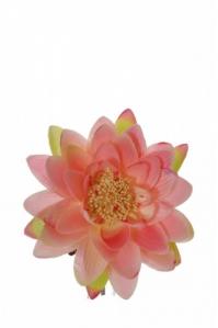 Цветок Лотоса искусственный розовый 16 см