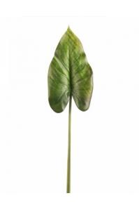 Лист Каллы искусственный зеленый 70 см