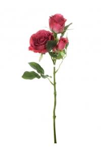 Роза искусственная розовая 40 см