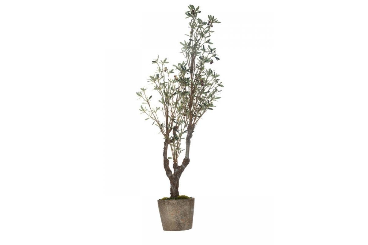 Оливковое дерево с плодами искусственное 122 см