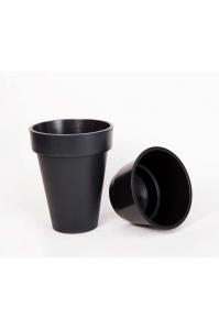 Кашпо пластиковое с контейнером Куби Слим матовое антрацит