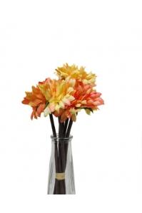 Букет хризантем искусственный оранжевый 7 цветков 27 см