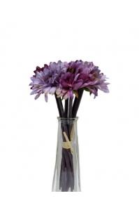Букет хризантем искусственный фиолетовый 7 цветков 27 см