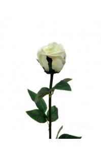 "Роза ""Porcelain"" белая искусственная 62 см (Real Touch)"