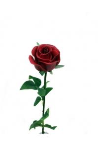 """Роза """"Porcelain"""" красная искусственная 62 см (Real Touch)"""