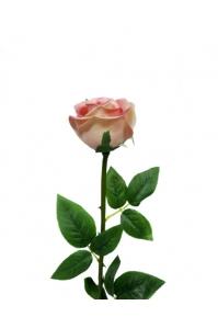 "Роза ""Porcelain"" крем-розовая искусственная 62 см (Real Touch)"