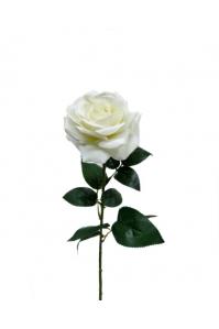 Роза Французская бархатная искусственная белая 65 см