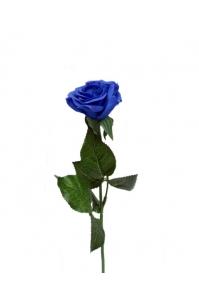 Роза раскрытая синяя 41 см (Real Touch)