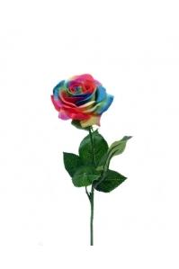 Роза раскрытая разноцветная 41 см (Real Touch)