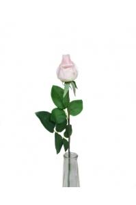 Роза светло-розовая полузакрытый бутон 56 см (Real Touch)