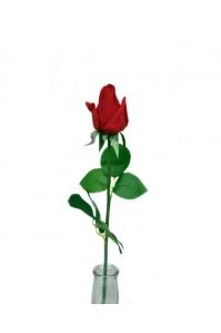 Роза красная полузакрытый бутон 56 см (Real Touch)