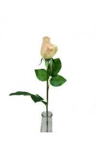 Роза светло-желтая полузакрытый бутон 56 см (Real Touch)