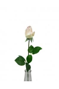 Роза белая с фиолетовым оттенком полузакрытый бутон 56 см (Real Touch)