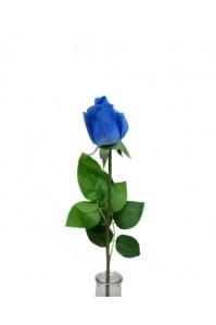 Роза синяя полузакрытый бутон 56 см (Real Touch)