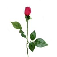 Роза красная бутон искусственная 43 см (Real Touch)