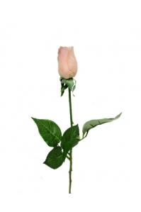 Роза кремовая бутон искусственная 43 см (Real Touch)