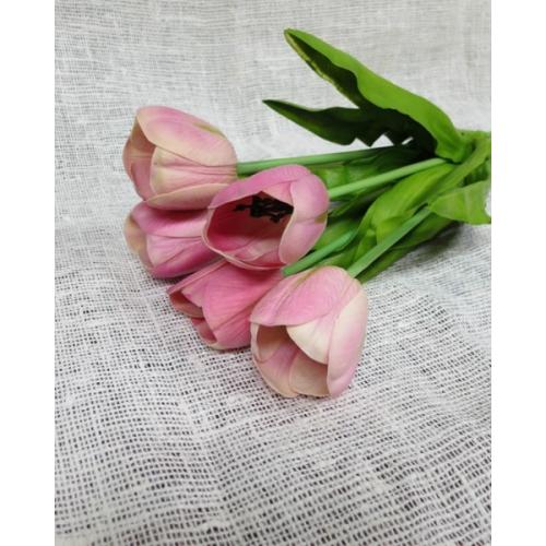 Тюльпан розовый 60 см (Real Touch)