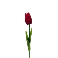 Тюльпан красный мини 32 см (Real Touch)